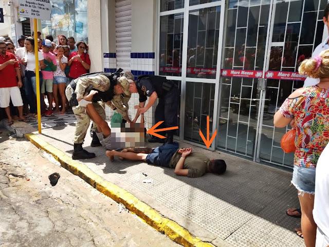 Resultado de imagem para TENTATIVA DE ASSALTO A CASA LOTÉRICA DE SANTA CRUZ/RN TERMINA COM UM DOS BANDIDOS MORTO E O OUTRO PRESO PELA POLÍCIA MILITAR