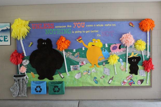 Earth Day Lorax Bulletin Board