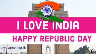 I LOVE INDIA HAPPY REPUBLIC DAY