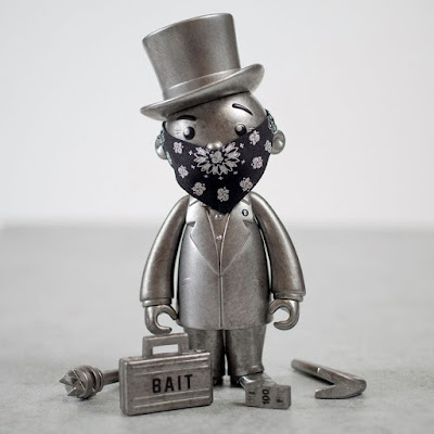 San Diego Comic-Con 2017 Exclusive Monopoly's Mr. Pennybags Pewter Edition Vinyl Figure by BAIT x Hasbro