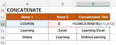 HOW TO USE CONCATENATE FUNCTION IN EXCEL