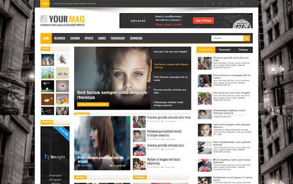 YourMag Free Blogger Template