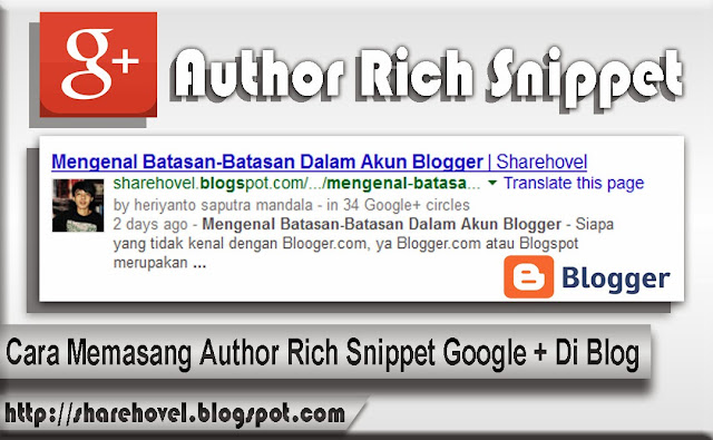 Cara Memasang Author Rich Snippet Google Plus Di Blog by sharehovel