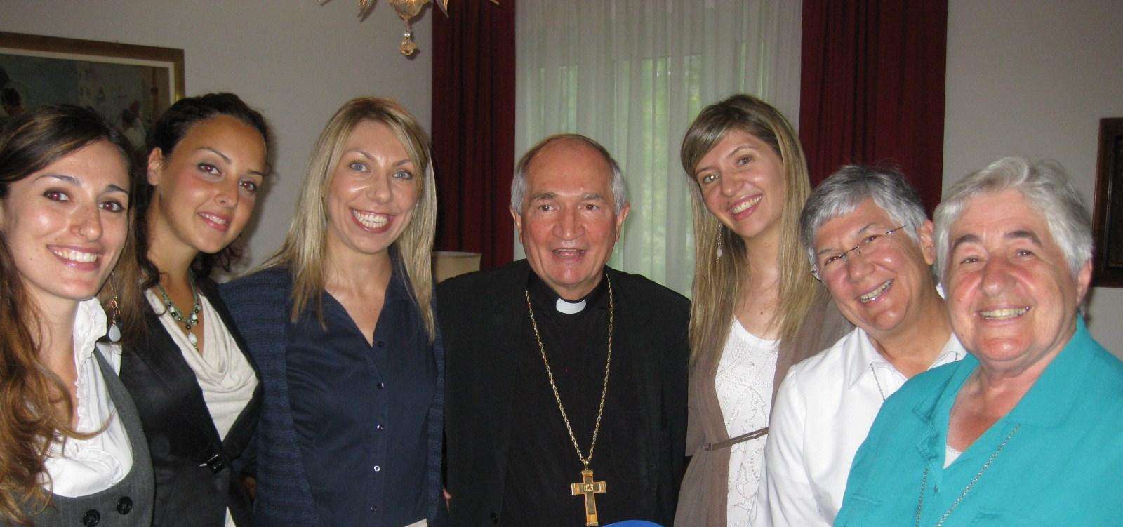Mrg  Tomasi, Apostolic Nuncio, meets with catholic NGOs in