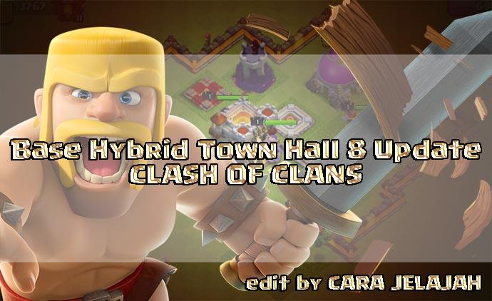 Desain Base Hybrid Terbaik TH 8 Clash Of Clans Update Terbaru