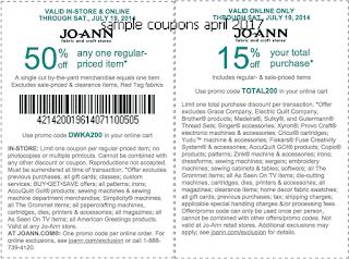 Joann coupons april