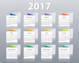 2017カレンダー無料テンプレート155