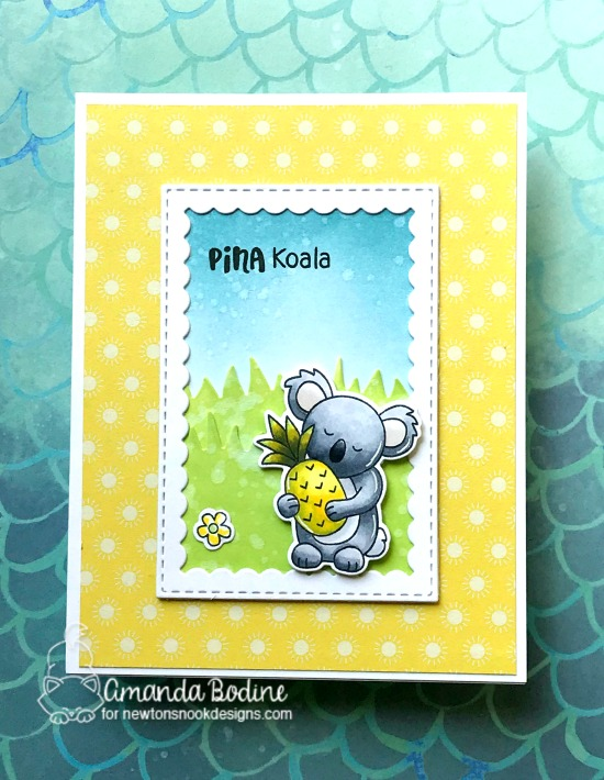 Pina Koala Card by Amanda Bodine | Pina Koala Stamp Set by Newton's Nook Designs #newtonsnook #handmade