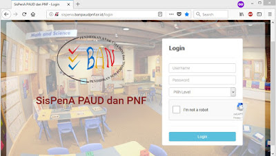 Sistem Informasi Penilaian Akreditasi PAUD (SISPENA) Terbaru 2018