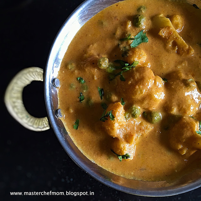 Amritsari Gobi Matar |Punjabi Style Creamy Cauliflower and Peas Curry