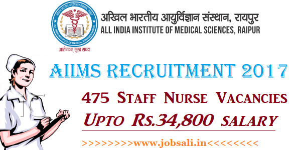 AIIMS Staff Nurse Recruitment 2017, AIIMS Staff Nurse Exam 2017, Govt Nursing jobs