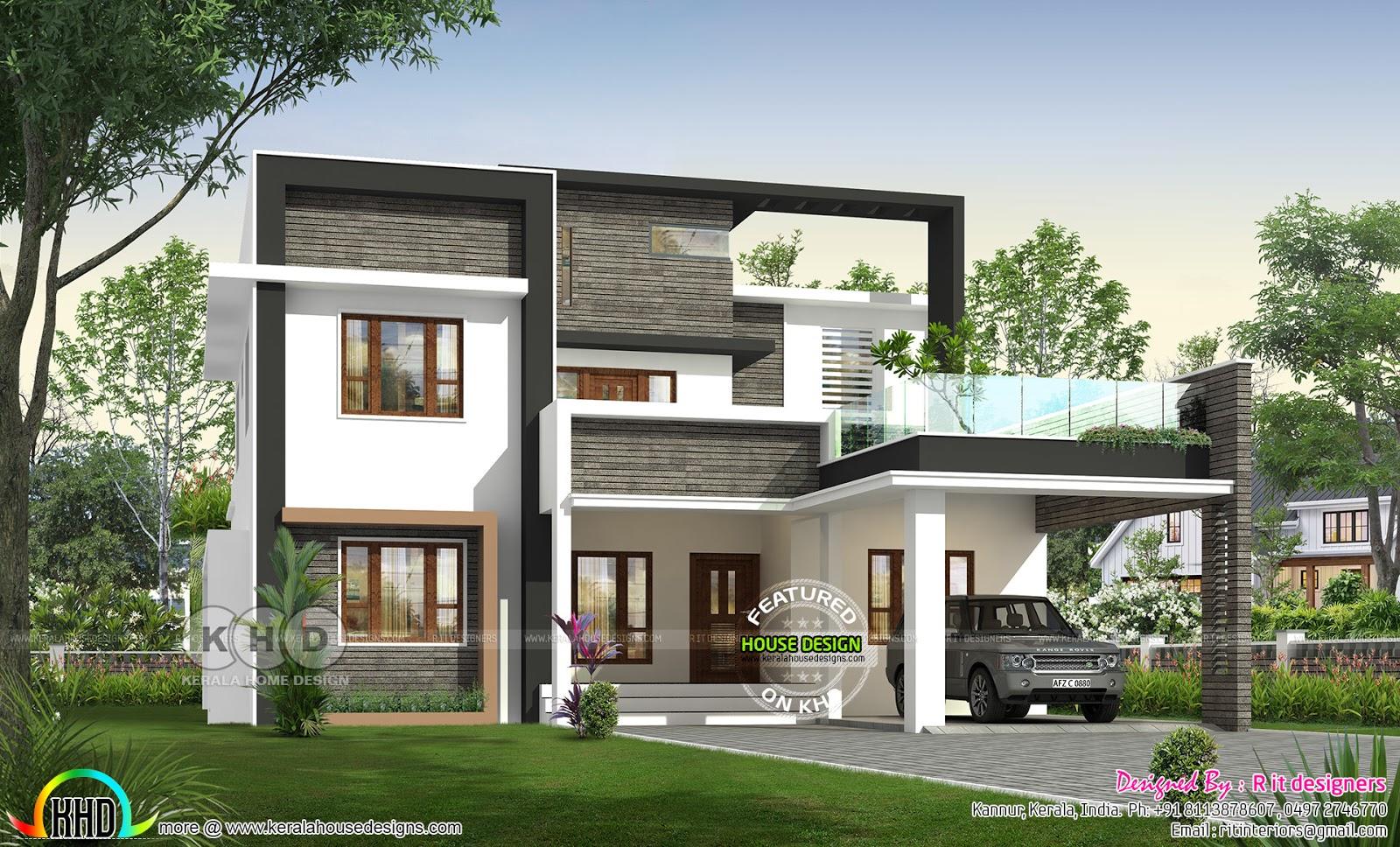 4 bedroom 3250 sq-ft modern house plan - Kerala home ...