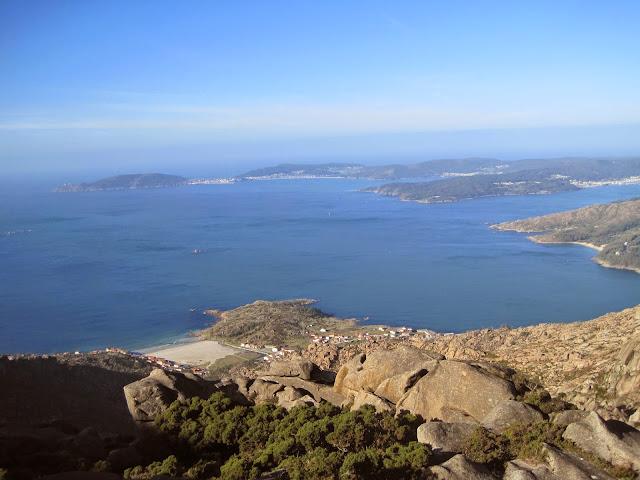 Vistas desde el monte Pindo en Carnota