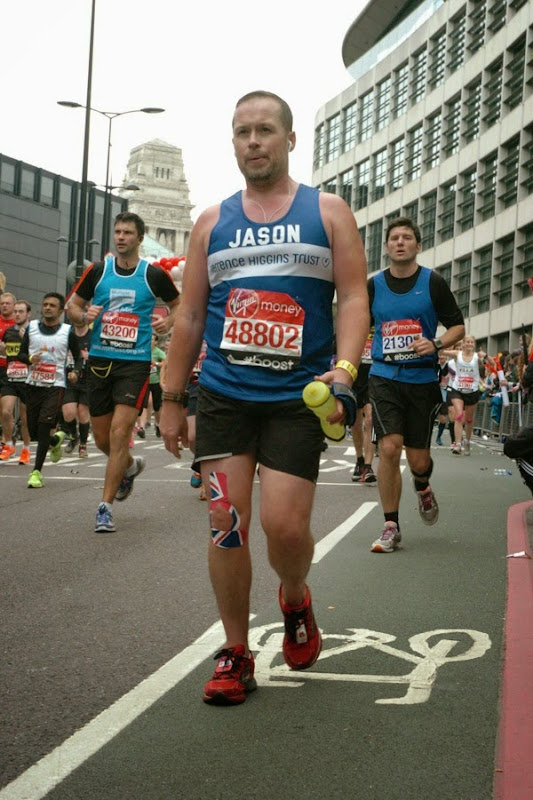 Taking walk break 2015 London Marathon