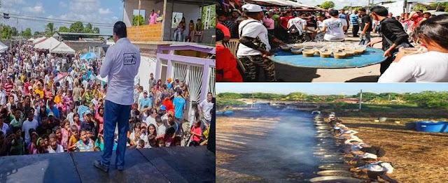 70 mil platos de sopa se repartieron con jornada social a personas de escasos recursos económicos por El Evangelio Cambia en Apure.