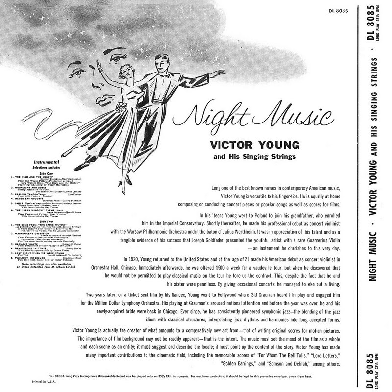 ENTRE MUSICA: VICTOR YOUNG - Night music