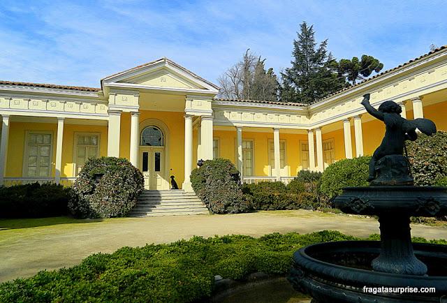 Casa dos fundadores da Vinícola Concha y Toro, em estilo vitoriamo inglês