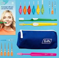 Logo Vinci gratis uno dei Kit del Sorriso TePe per la tua igiene orale