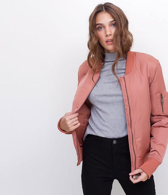 Lojas online de roupas femininas Jaqueta Bomber