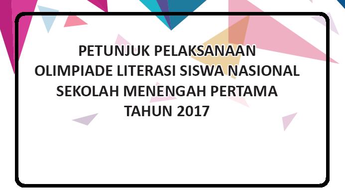 Olimpiade Literasi Siswa Nasional SMP 2017