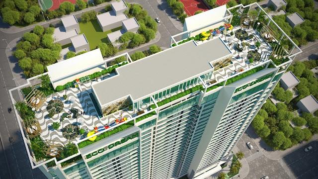 Tiện ích tầng mái sky bar tại Eco Dream