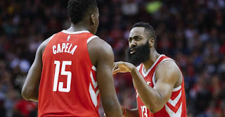 Clint Capela and James Harden