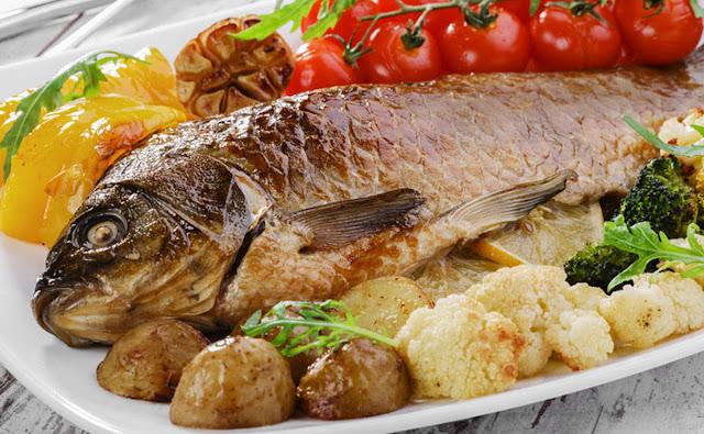 السمك المشوي بالفرن في 15 دقيقة
