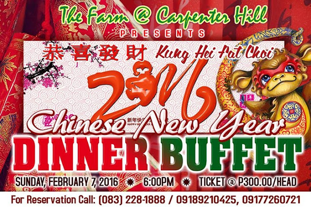 Chinese New Year Dinner Buffet at The Farm @ Carpenter Hill