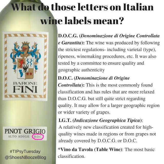 Italian Wine Facts from Barone Fini and Shoes N Booze