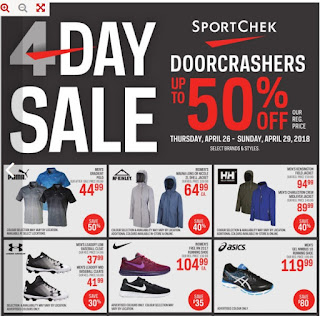Sport Chek Flyer April 26 – 29, 2018