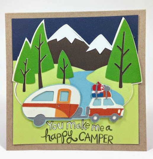 Cricut You make me a happy camper card