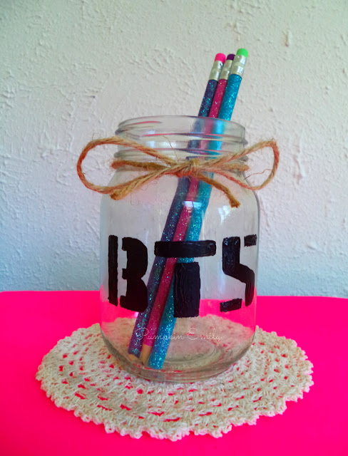 BTS Logo Pencil Mason Jar