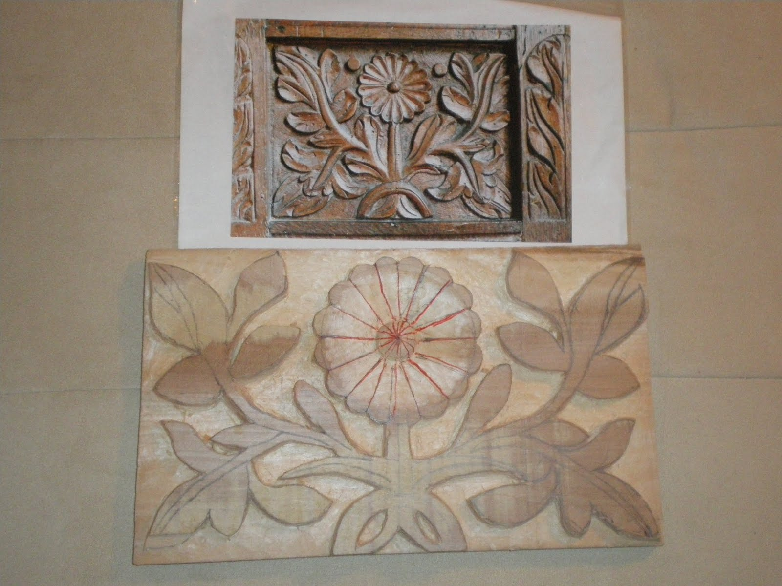 The Peets of Pippin Cottage: Wood carving lessons