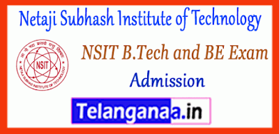 Netaji Subhash Institute of Technology BE B.Tech 1st 2nd 3rd Admissions Counselling
