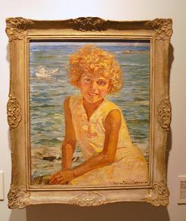 το έργο Κορίτσι στην Ακρογιαλιά της Θάλειας Φλωρά - Καραβία στην Εθνική Πινακοθήκη