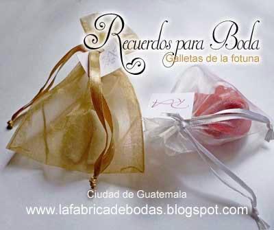 comprar galletas de la fortuna fortune cookies recuerdos boda guatemala