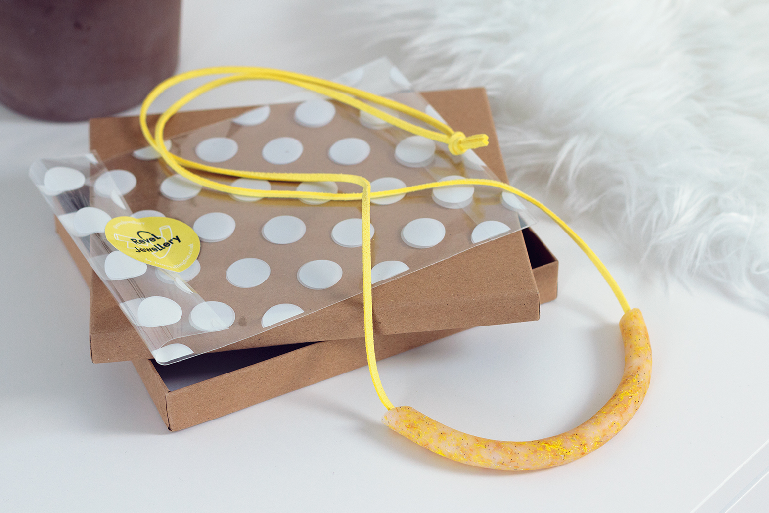 Revel Jewellery yellow necklace