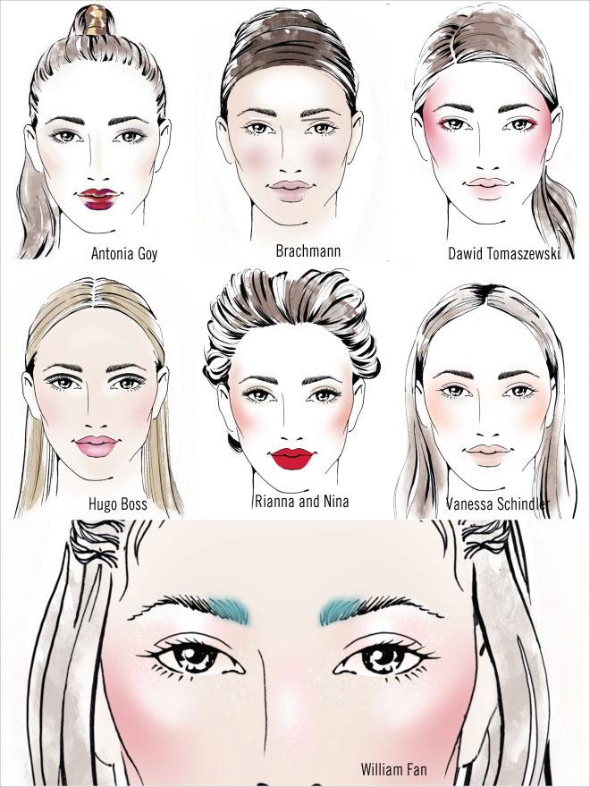 Make Up des Berliner Modesalons