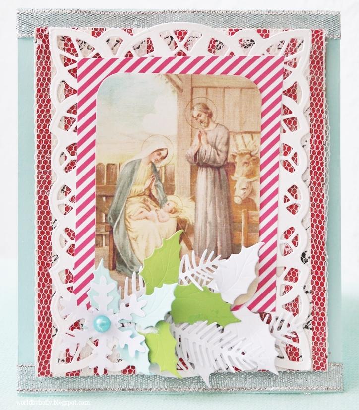 kartka świąteczna, kartka bożonarodzeniowa, kartka religijna