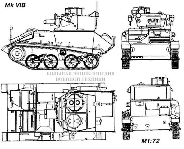 Общий вид легкого танка Light Tank Мк VI