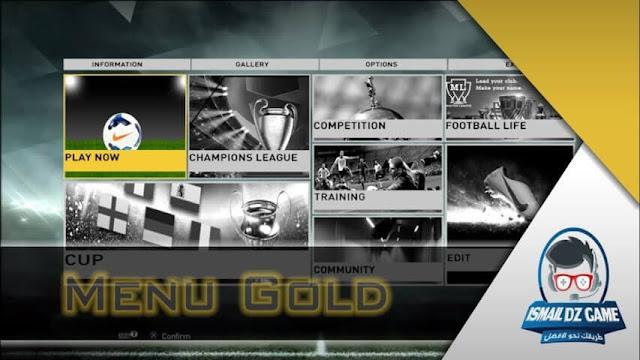 Gold Menu For PES 2013