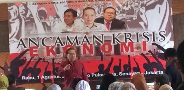 Rizal Ramli: Kita Gali Lubang Buat Tutup Jurang