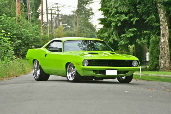 1971 Plymouth Barracuda on auto body rotisserie