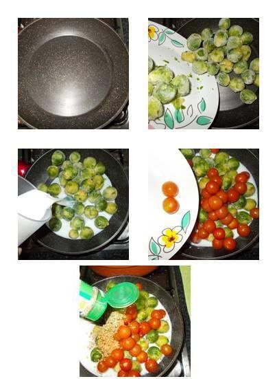 Receita de couve de bruxelas ao molho de tomate com nozes light
