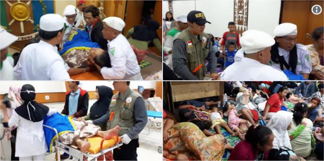Laskar FPI Sigap Membantu Warga Korban Tsunami Selat Sunda Sejak Tadi Malam
