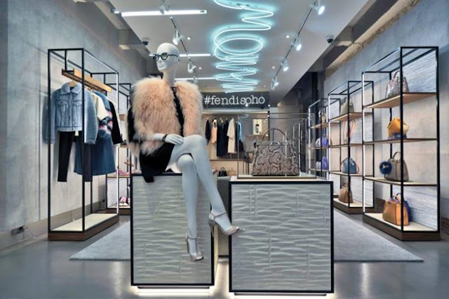 Green Pear Diaries, interiorismo, pop up store, Fendi, Fendi SoHo, Nueva York