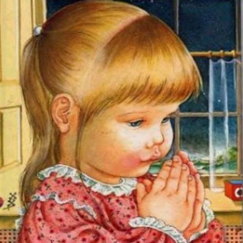ilustraciones de niños rezando