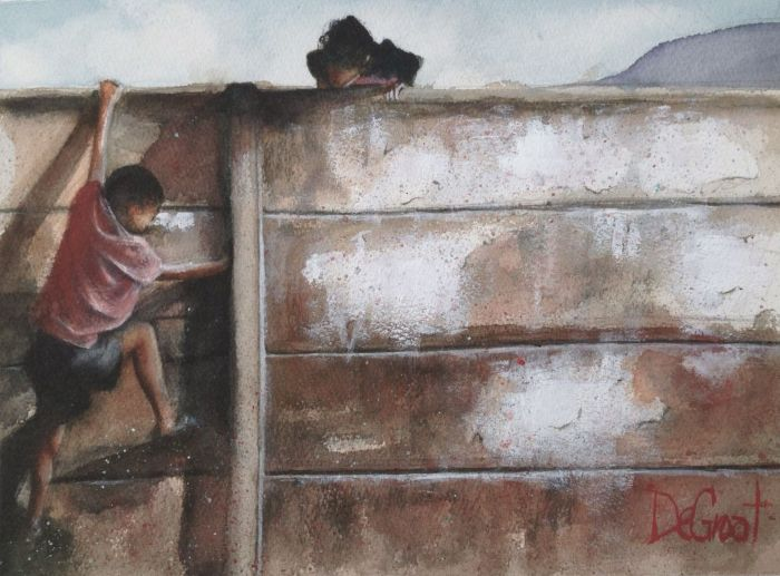 Сочетание живописи и рисунка
