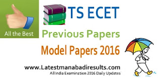 TS ECET Model Papers 2016, Telangana ECET 2016 Question Papers, TSECET, Syllabus 2016, TSECET Previous Papers 2015