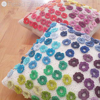 Afremov Pillow crochet pattern from Susan Carlson of Felted Button